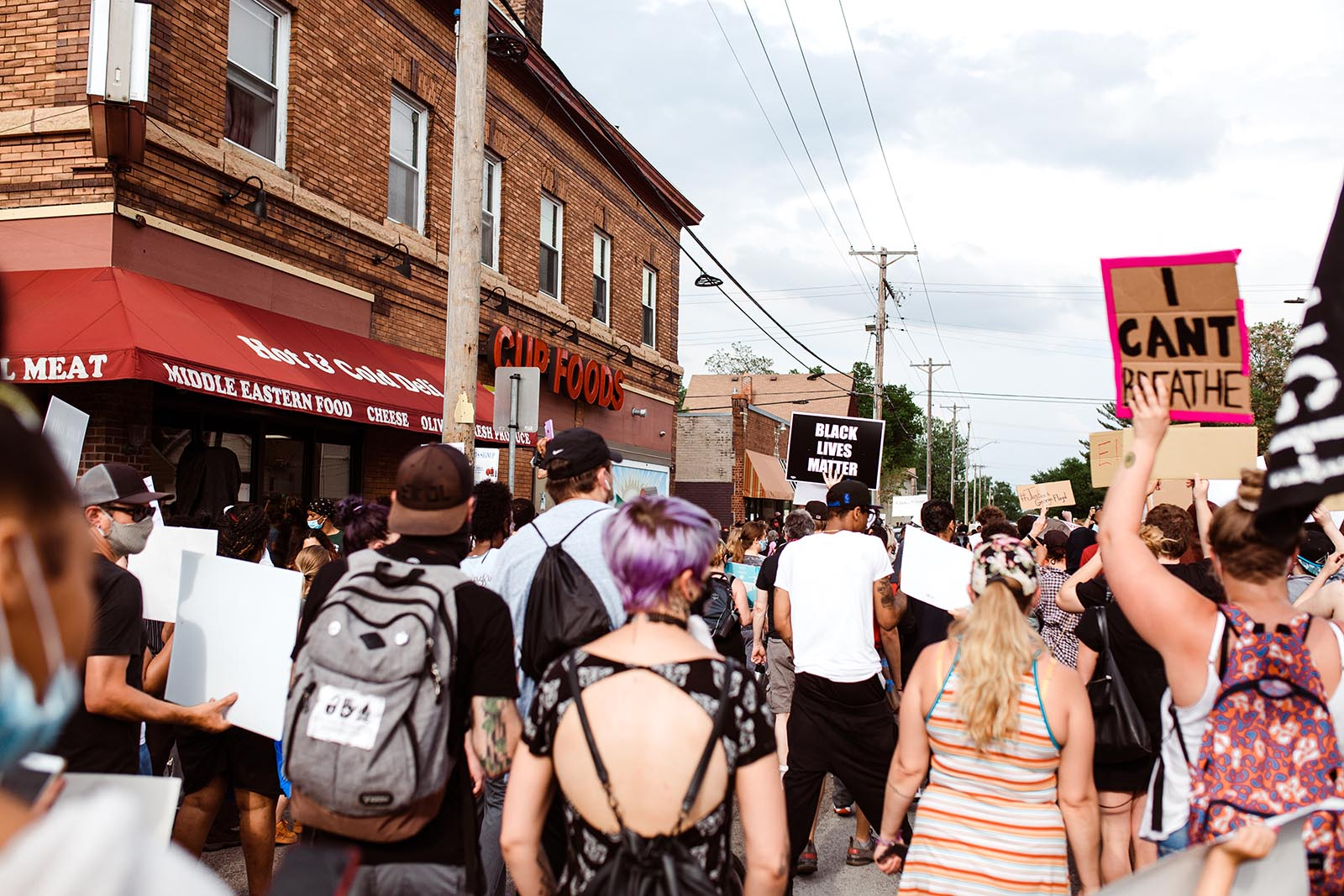 Photo of George Floyd protests in Minneapolis, MN