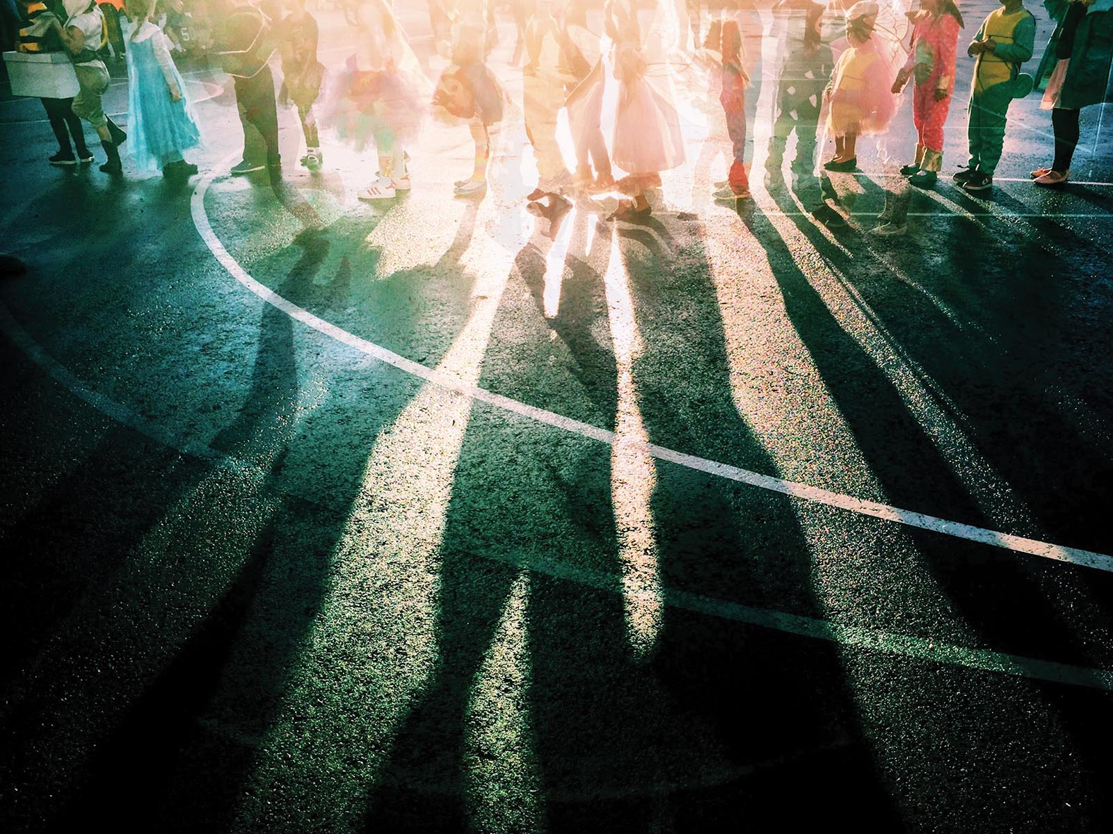 Creative photography of children and shadows