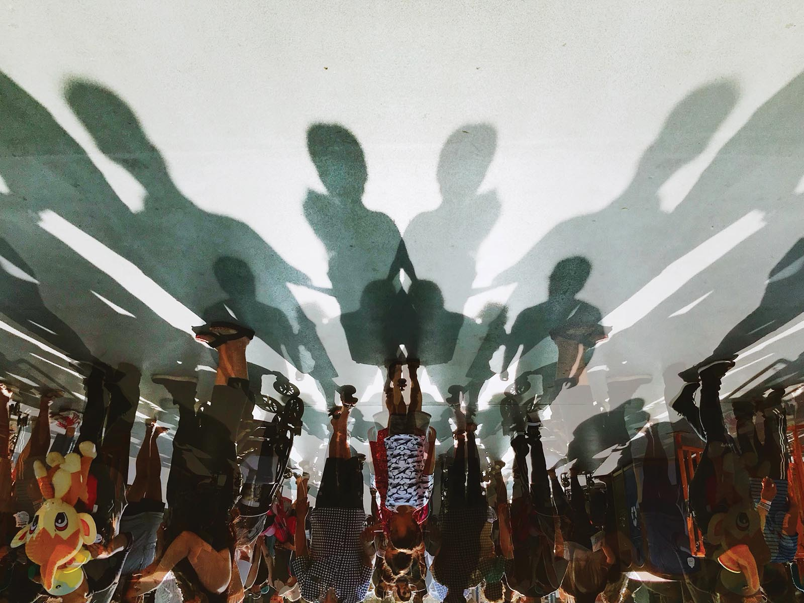 Creative photography of crowd and shadows