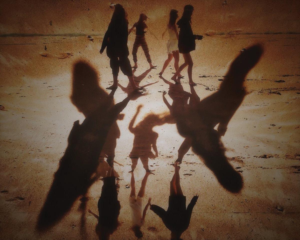 Creative image of shadows at beach