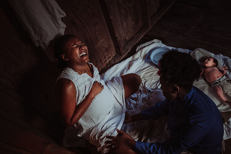 Slave birth photography project by Chinelle Rojas