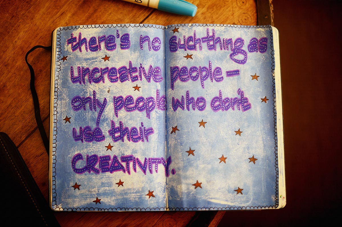 Journal quote on the importance of creativity
