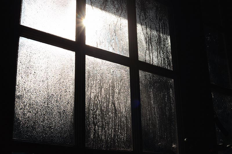 Creative photo of condensation on a window