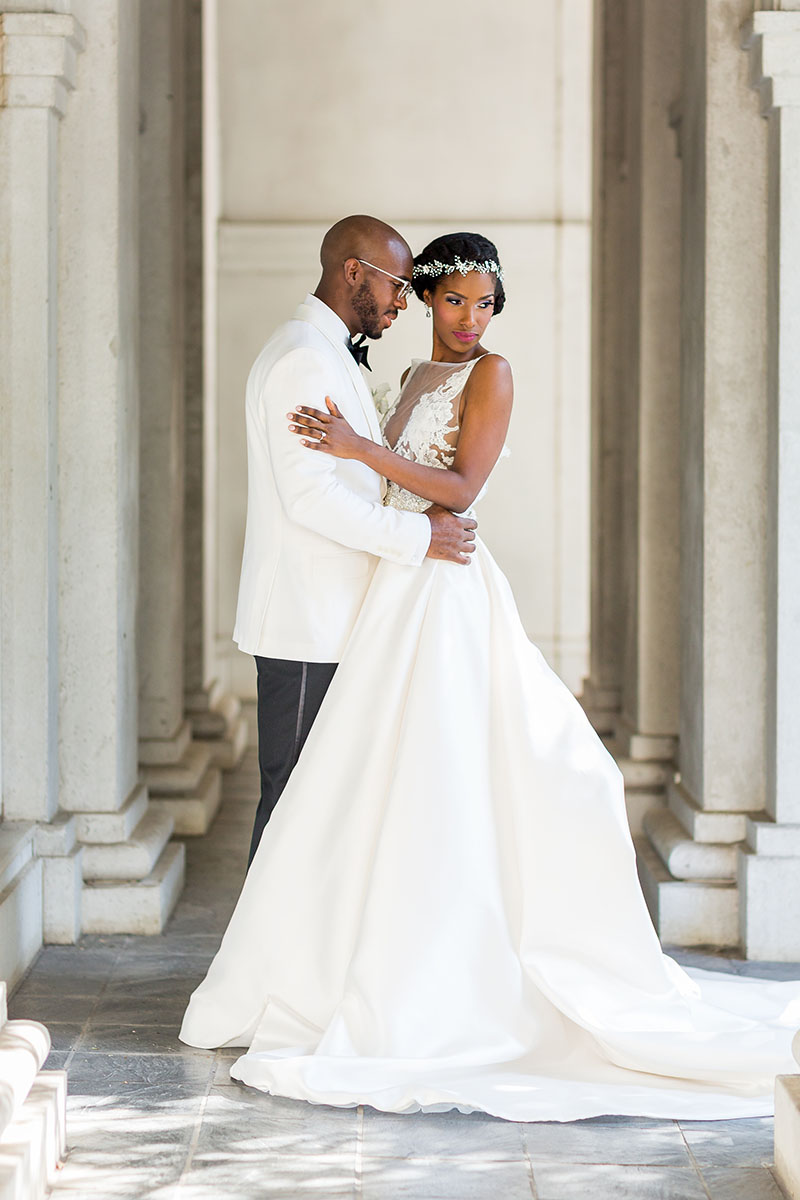 A polished wedding photo by Mecca Gamble