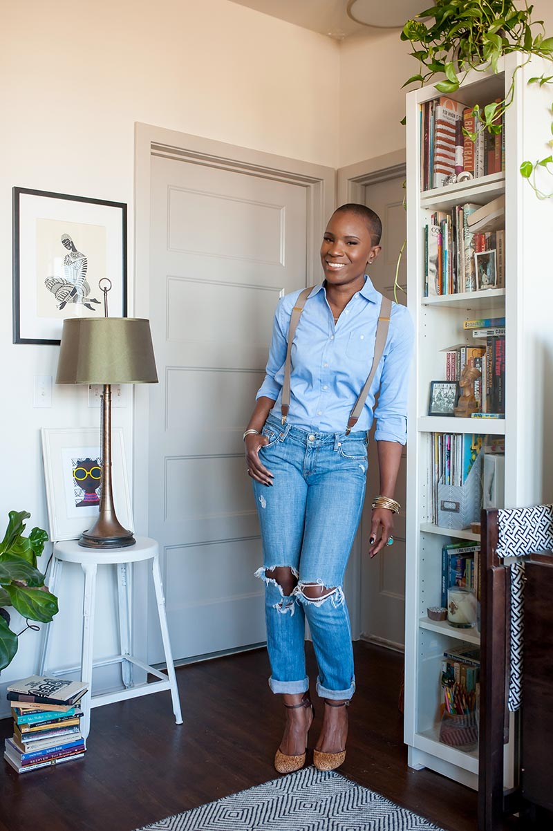 Lifestyle business portrait at home by Danielle Finney