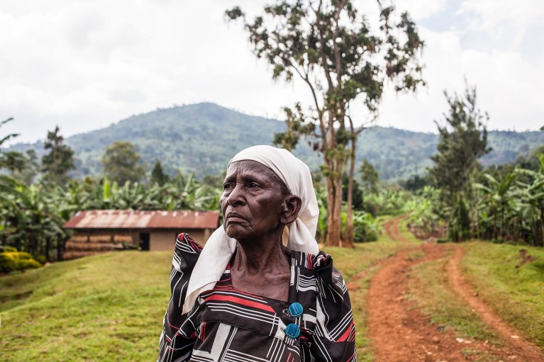 Portrait of a birth attendant in Uganda