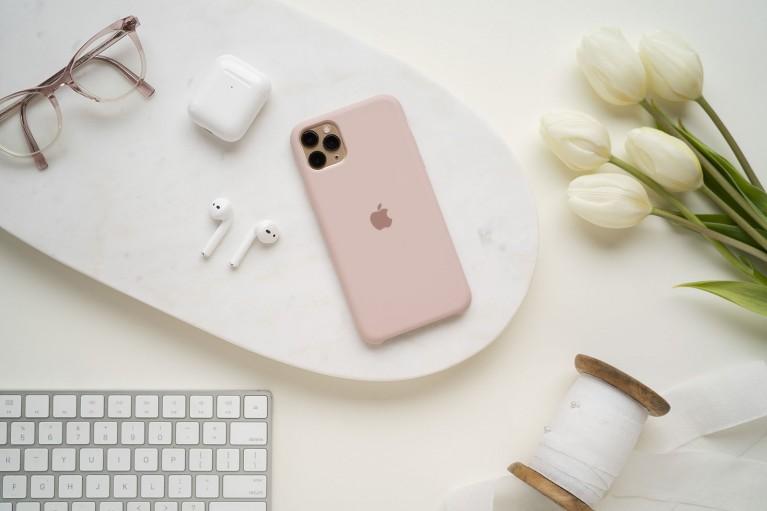 iphone 11 flat lay